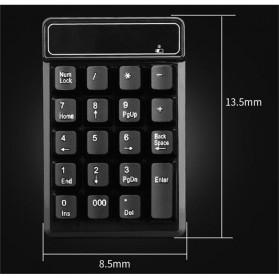 AVATTO Keypad Numeric Wireless dengan Numpad Triple Nol 2.4GHz - 171003 - Black - 9