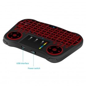 Mini MT08 Air Mouse Wireless Keyboard RGB 2.4GHz with Touchpad - Black - 4