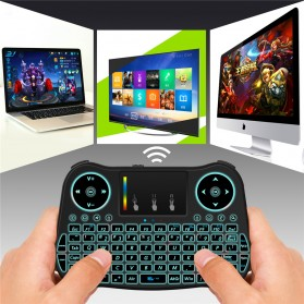 Mini MT08 Air Mouse Wireless Keyboard RGB 2.4GHz with Touchpad - Black - 5