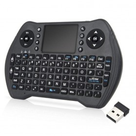 Keyboard Wireless 2.4GHz with Touchpad - MT10 - Black - 1