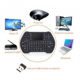 Keyboard Wireless 2.4GHz with Touchpad - MT10 - Black - 3