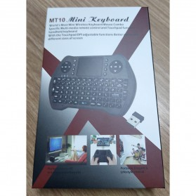 Keyboard Wireless 2.4GHz with Touchpad - MT10 - Black - 7