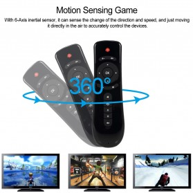 Mini Wireless Air Mouse 6 Axis Gyroscope 2.4GHz for Android TV Box - T2 - Black - 2