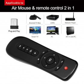 Mini Wireless Air Mouse 6 Axis Gyroscope 2.4GHz for Android TV Box - T2 - Black - 3