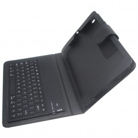 Bluetooth Keyboard with Leather Case for iPad Mini / Mini 2 Retina - Black