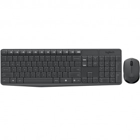 Logitech Wireless Keyboard with Mouse Combo - MK235 - Black