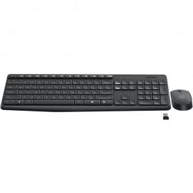 Logitech Wireless Keyboard with Mouse Combo - MK235 - Black - 2