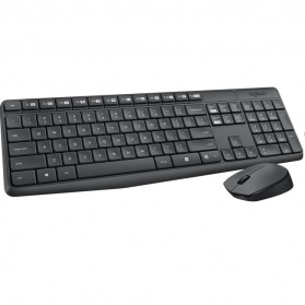 Logitech Wireless Keyboard with Mouse Combo - MK235 - Black - 3