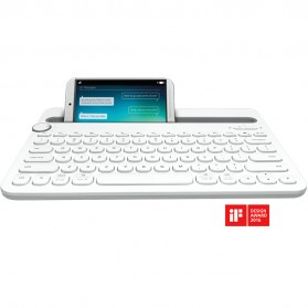 Logitech Bluetooth Multi Device Keyboard - K480 - White - 1