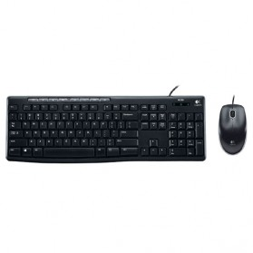 Logitech Media Combo Keyboard and Mouse - MK200 - Black - 1