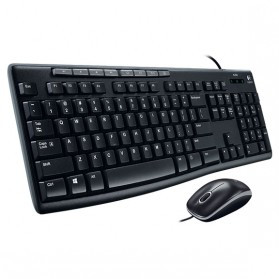 Logitech Media Combo Keyboard and Mouse - MK200 - Black - 2