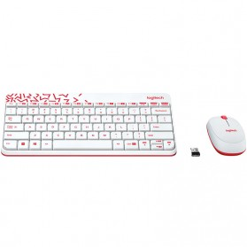 Logitech Keyboard and Mouse Wireless Combo - MK240 Nano - White - 2
