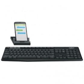 Logitech Keyboard Bluetooth dengan Stand Smartphone - K375S - Black - 1