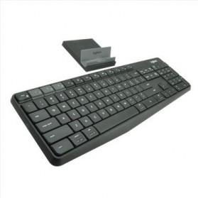 Logitech Keyboard Bluetooth dengan Stand Smartphone - K375S - Black - 2