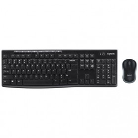 Logitech Wireless Keyboard with Mouse Combo - MK270R - Black
