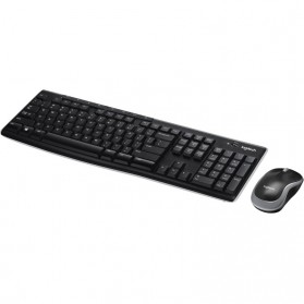Logitech Wireless Keyboard with Mouse Combo - MK270R - Black - 2