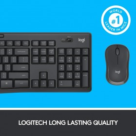 Logitech Silent Wireless Keyboard with Mouse Combo - MK295 - Black - 8
