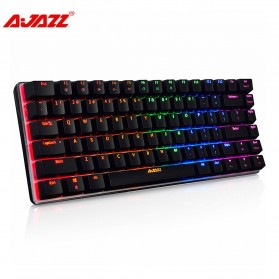 Jual PC Gaming - Ajazz Firstblood Mechanical Gaming Keyboard RGB Backlit Blue Switch - AK33 - Black