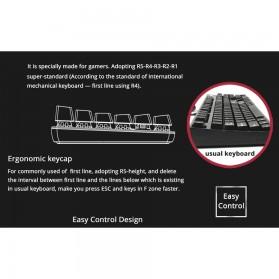 Ajazz Firstblood Mechanical Gaming Keyboard RGB Backlit Blue Switch - AK33 - Black - 3