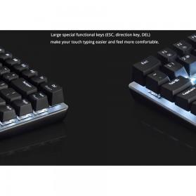Ajazz Firstblood Mechanical Gaming Keyboard RGB Backlit Blue Switch - AK33 - Black - 4