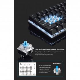 Ajazz Firstblood Mechanical Gaming Keyboard RGB Backlit Blue Switch - AK33 - Black - 5