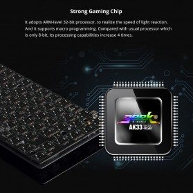 Ajazz Firstblood Mechanical Gaming Keyboard RGB Backlit Blue Switch - AK33 - Black - 6
