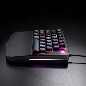 Free Wolf Portable Gaming Keyboard RGB 28 Keys - K11 - Black - 3
