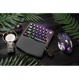 Free Wolf Portable Gaming Keyboard RGB 28 Keys - K11 - Black - 6