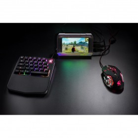 Free Wolf Portable Gaming Keyboard RGB 28 Keys - K11 - Black - 7