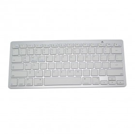 Wireless Bluetooth 3.0 Multimedia Keyboard  for Apple iOS/Android Phone/Windows - BCM20730 - White