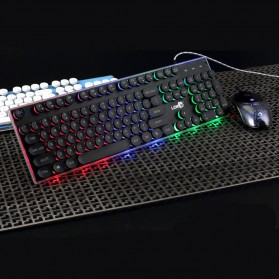 LDKAI Retro Punk Semi Mechanical Keyboard RGB with Mouse - GT800 - Black