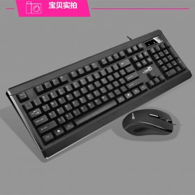 LDKAI GT900 Gaming Keyboard Combo with Mouse - Black