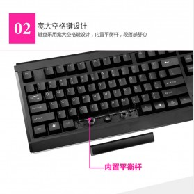 LDKAI GT900 Gaming Keyboard Combo with Mouse - Black - 4