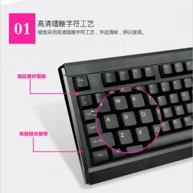 LDKAI GT900 Gaming Keyboard Combo with Mouse - Black - 6