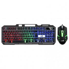 LDKAI Gaming Keyboard LED with Mouse - 828 - Black