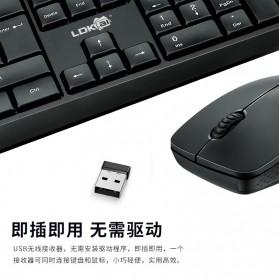 LDKAI Wireless Keyboard Mouse Combo Set Ergonomic 2.4GHz - GR-70 - Black - 3