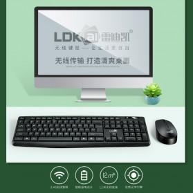 LDKAI Wireless Keyboard Mouse Combo Set Ergonomic 2.4GHz - GR-70 - Black - 5