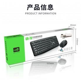 LDKAI Wireless Keyboard Mouse Combo Set Ergonomic 2.4GHz - GR-70 - Black - 7