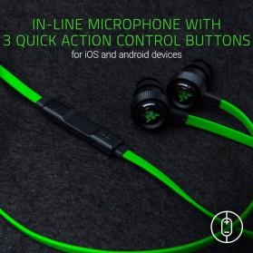 Razer Hammerhead Pro V2 Earphone with Microphone - Black/Green - 6