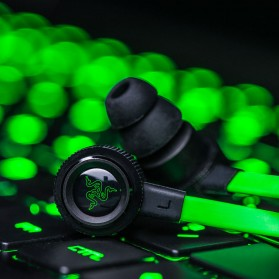 Razer Hammerhead Pro V2 Earphone with Microphone - Black/Green - 8