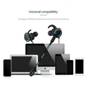 Somic G618 Pro Bluetooth Gaming Earphone HiFi dengan Detachable Mic - Black - 6