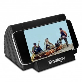 Smalody Wireless Portable Speaker Induksi Amplifier with Smartphone Stand - SL-30 - Black
