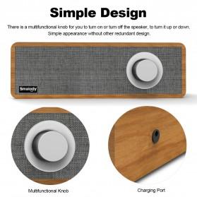 Smalody Wooden Bluetooth Speaker Stereo Soundbar - SL-50 - Gray - 3