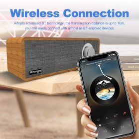 Smalody Wooden Bluetooth Speaker Stereo Soundbar - SL-50 - Gray - 4