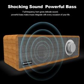 Smalody Wooden Bluetooth Speaker Stereo Soundbar - SL-50 - Gray - 5