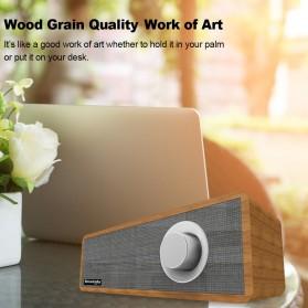 Smalody Wooden Bluetooth Speaker Stereo Soundbar - SL-50 - Gray - 7