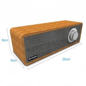 Smalody Wooden Bluetooth Speaker Stereo Soundbar - SL-50 - Gray - 8