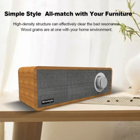 Smalody Wooden Bluetooth Speaker Stereo Soundbar - SL-50 - Gray - 9