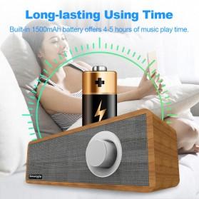 Smalody Wooden Bluetooth Speaker Stereo Soundbar - SL-50 - Gray - 10