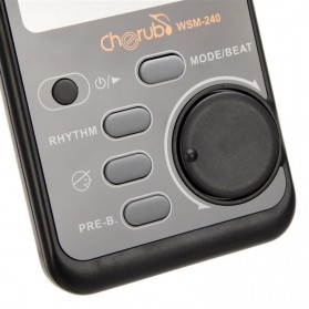 Cherub Metronome Rhthm Device Drum Piano Guitar - WSM-240 - Black - 9